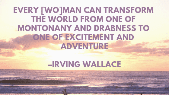 Sunset photo with Irving Wallace Quote