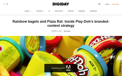 Rainbow bagels and Pizza Rat: Inside Play-Doh's branded-content strategy