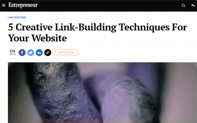 5 Creative Link-Building Techniques For Your Website