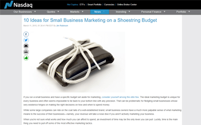 10 Ideas for Small Business Marketing on a Shoestring Budget
