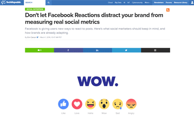 Don't let Facebook Reactions distract your brand from measuring real social metrics