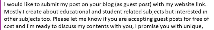 I would like to submit my post on your blog (as guest post) with my website link.