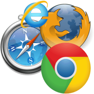 Chrome Firefox Internet Explorer Safari Logos