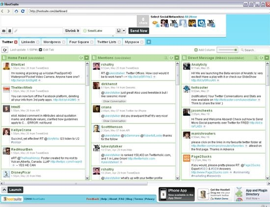 A screenshot of Hootsuite, a staple in TCF's social media marketing stack