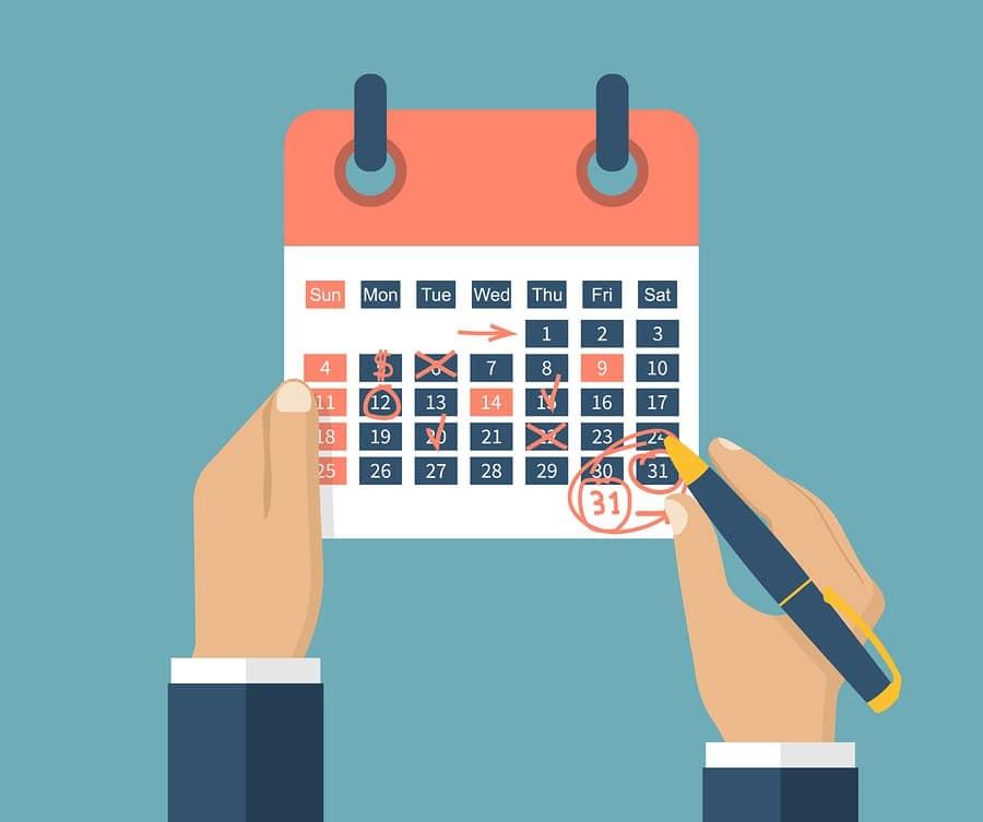 develop your own blog calendar