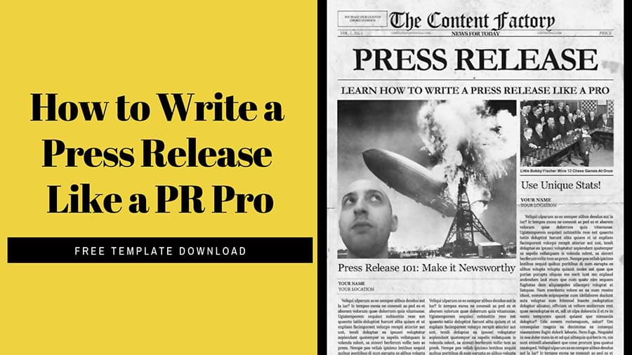 Graphic how to write a press release like a pr pro newspaper to the right