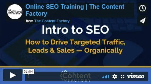 The SEO 101 Online Video Training Series Intro Video
