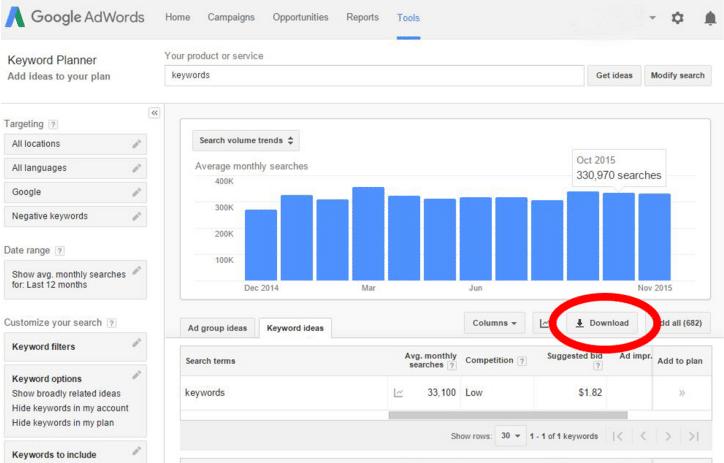 How to Export Google AdWords