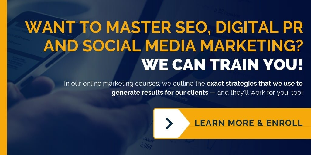 Get online marketing training for SEO, social media marketing, digital PR and content writing